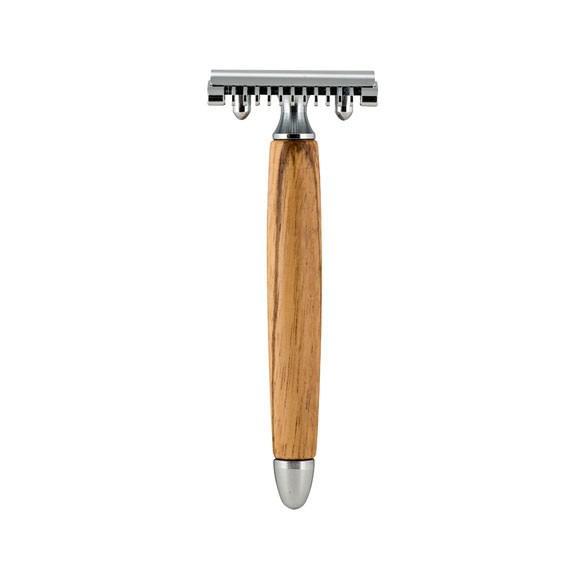 Fatip Olive Wood Open Comb DE Razor - Säkerhetsrakhyvel