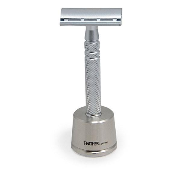 Feather AS-D2 All Stainless Safety Razor with stand - Säkerhetsrakhyvel Säkerhetshyvlar 2,398.00