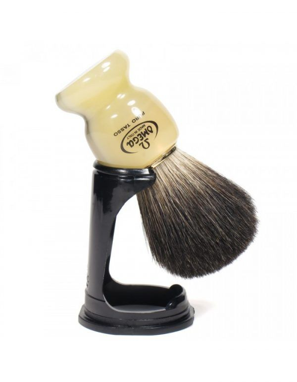 Omega Super Badger Shaving Brush with Stand