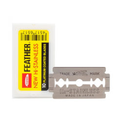 New Hi-Stainless Dubbelrakblad 10-pack produkt + forpackning