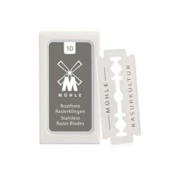 Stainless Dubbelrakblad 10-pack produkt + forpackning