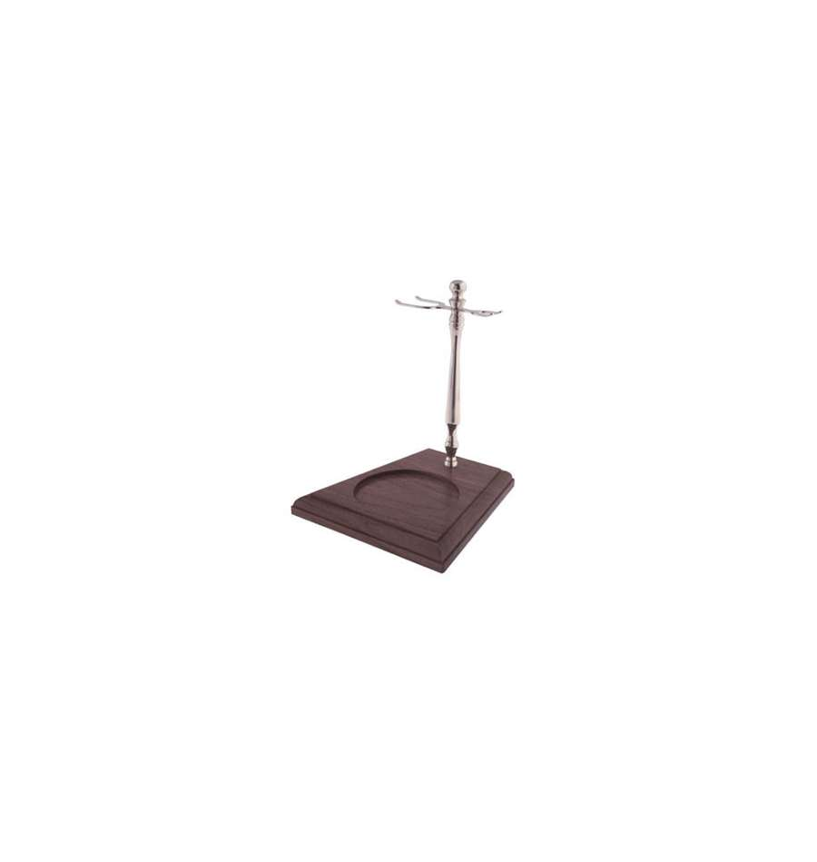col-conk-chrome-wood-stand-rakstall