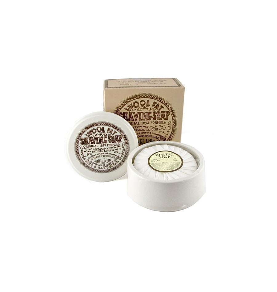 mitchell-s-wool-fat-shaving-soap-ceramic-dish-raktval
