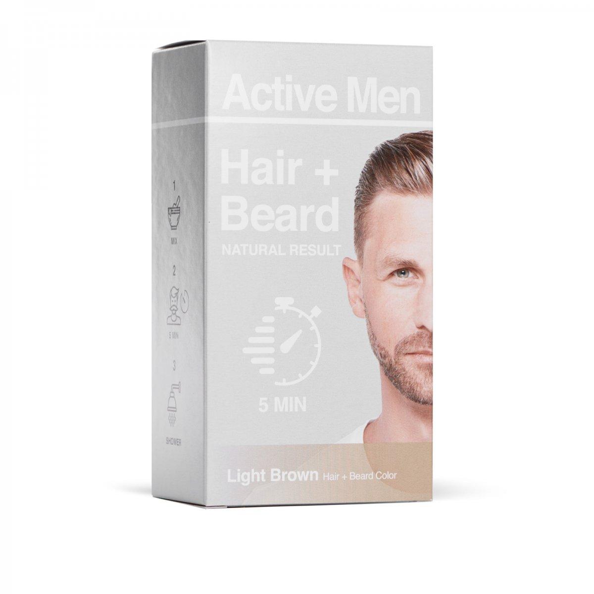 Active Men - Skägg- och Hårfärg - Ljusbrun