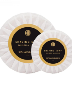 Benjamin Barber Shaving soap Saffron & leather