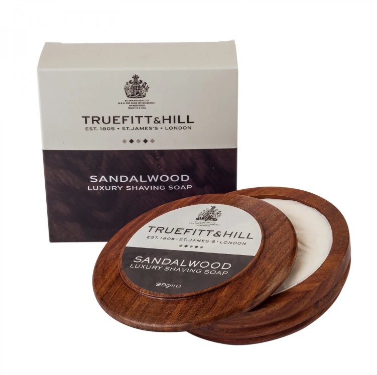 Truefitt & Hill Sandalwood Luxury Shaving Soap with Bowl