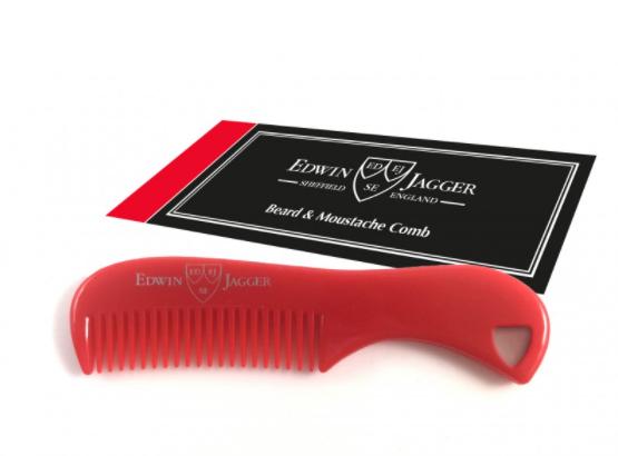 Edwin Jagger Beard & Moustache comb Red