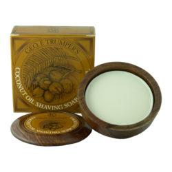 Coconut Oil Shaving Soap Bowl 80g produkt + forpackning