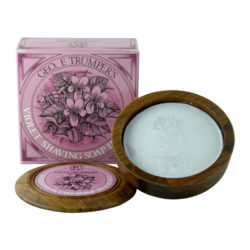 Violet Shaving Soap Bowl 80g produkt + forpackning