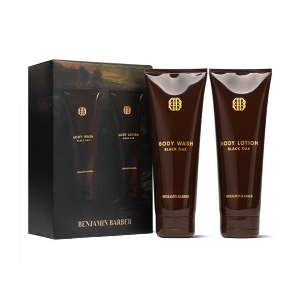 Dou Black Oak Body Wash & Body Lotion produkt + forpackning